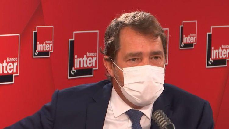 Christophe Castaner, sur France Inter, le 3 mai 2021. (FRANCE INTER / RADIO FRANCE)