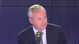 Bruno Le Maire, ministre de l'Économie et des Finances, dans les studios de franceinfo, le 9 avril 2019. (FRANCEINFO / RADIOFRANCE)