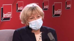 Dominique Le Guludec, présidente du collège de la Haute autorité de santé, interrogé sur France Inter. (FRANCEINTER / RADIOFRANCE)