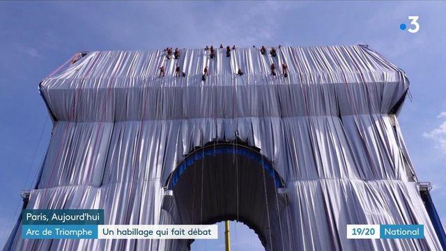 L'Arc de Triomphe empaqueté : une œuvre qui ne fait pas l'unanimité