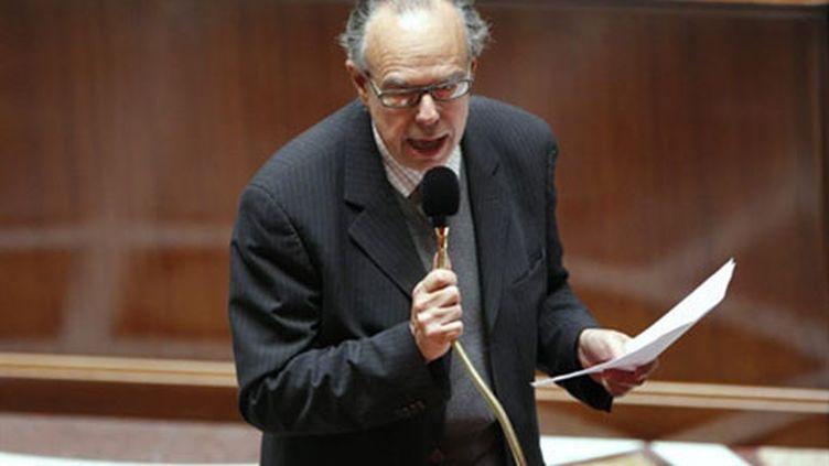Le ministre de la Culture, Frédéric Mitterrand, mardi 21 juillet à l'Assemblée nationale, défend Hadopi II. (AFP - Patrick Kovarik)