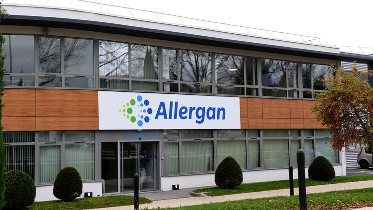 Le siège de la société Allergan à Pringy (Haute-Savoie), le 7 novembre 2017. (JEAN-PIERRE CLATOT / AFP)