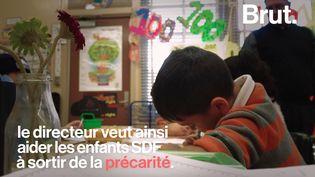 Àl'école primaire Telfair, dans la banlieue de Los Angeles, les enfants les plus nécessiteux bénéficient de l'aide de l'établissement. (BRUT)