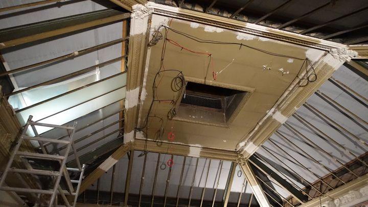 Futur musée du parfum Fragonard : la verrière « en-stuquée » est réparée  (Corinne Jeammet)