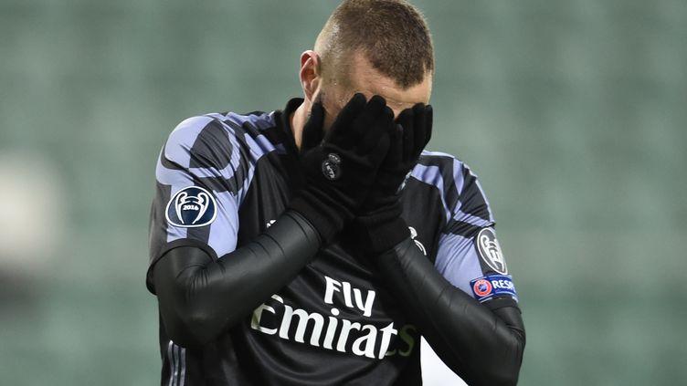 Le buteur du Real Madrid, Karim Benzema (ODD ANDERSEN / AFP)