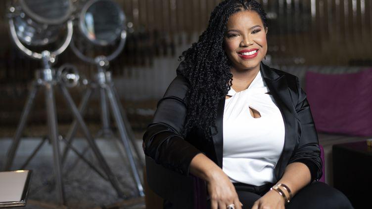 April Reign, la créatrice du mouvement#OscarsSoWhite le 1er février 2020. (VALERIE MACON / AFP)