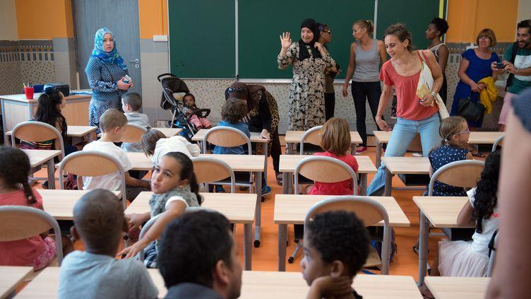 Rentrée des classes dans une école primaire à Marseille, le 1er septembre 2015. (BERTRAND LANGLOIS / AFP)