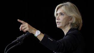 Valérie Pécresse, candidate à l'investiture des Républicains à l'élection présidentielle,le 15 octobre 2021, à Clamart (Hauts-de-Seine). (GEOFFROY VAN DER HASSELT / AFP)
