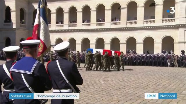 Militaires tués : l'hommage de la nation à ses deux héros