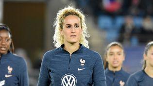 Kheira Hamraoui, blessée au mollet, est contrainte de déclarer forfait, lundi 18 octobre. (MELANIE LAURENT / A2M SPORT CONSULTING)