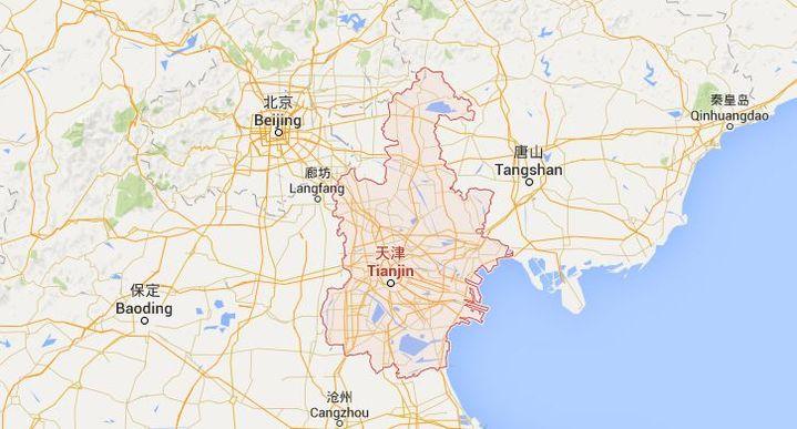 L'accident s'est déroulé à 140 km de Pékin, dans la ville de Tianjin. (GOOGLE MAPS)