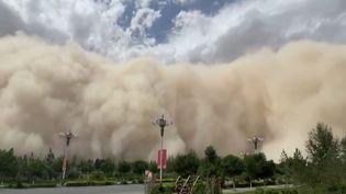 Chine : impressionnante tempête de sable dans le nord du pays (France 2)