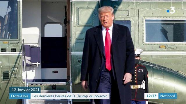 Etats-Unis : Donald Trump vit ses derniers moments à la tête du pays