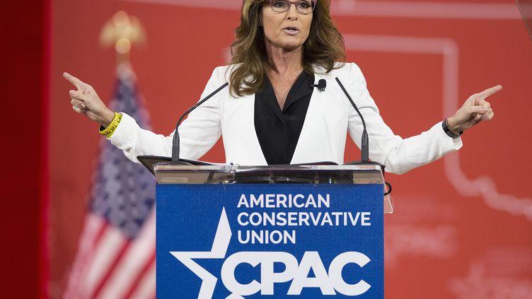 Sarah Palin, le 26 février 2015 à National Harbor (Etats-Unis). (JOSHUA ROBERTS / REUTERS)