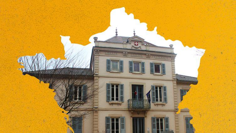La mairie de Pont-d'Ain (Ain). (CLEMENT PARROT / AWA SANE / FRANCEINFO)