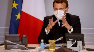 Emmanuel Macron le 6 novembre 2020/ (LUDOVIC MARIN / AFP)