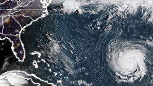L'ouragan Florence, au large de la côte est des Etats-Unis, dans l'océan Atlantique, le 10 septembre 2018. (HO / NOAA / RAMMB / AFP)