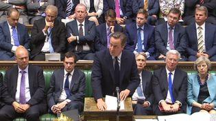 Le Premier ministre britannique David Cameron s'adresse au Parlement, à Londres, le 27 juin 2016. (HANDOUT / AFP)