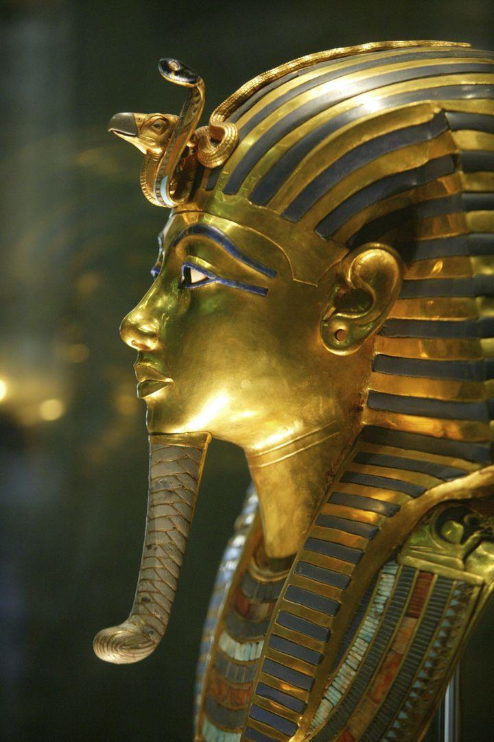Le masque de Toutankhamon, exposé au musée égyptien du Caire. (DELOCHE / BSIP)