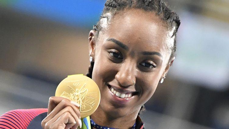Brianna Rollins, championne olympique du 100 m haies. (DAMIEN MEYER / AFP)