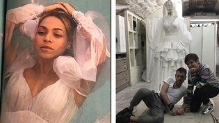 La robe réalisée pour Beyoncé par les créateurs de la maison On Aura Tout Vu  (Courtesy of On Aura Tout Vu)