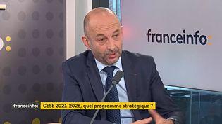 """Thierry Beaudet, président du Conseil économique sociale et environnemental(CESE), """"invité éco"""" de franceinfo mardi 26 octobre. (FRANCEINFO)"""