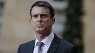 Le Premier ministre Manuel Valls, à Matignon, à Paris, le 25 février 2016. (THOMAS SAMSON / AFP)