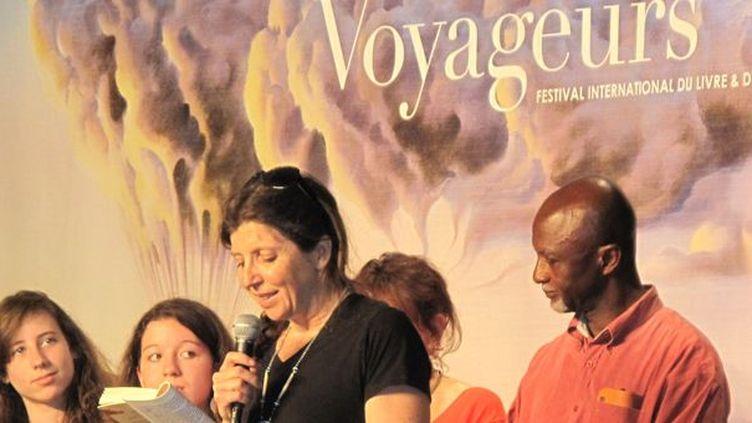 Carole Martinez et Libar Fofana à Etonnants Voyageurs 2012  (@Sophie Jouve)