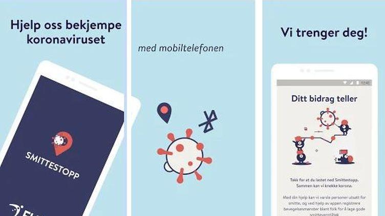 Présentation de l'application norvégienne de traçage contre le Covid-19 sur Google Play. (INSTITUT NORVEGIEN DE SANTE PUBLIQUE)