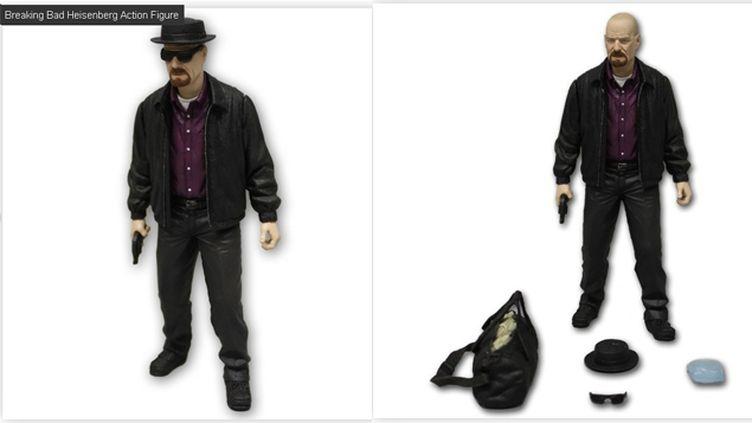 (Une des figurines Breaking Bad retirées de la vente. © Capture d'écran Mezcotoyz.com)
