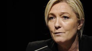 Marine Le Pen en conférence de presse à Metz (Moselle), le 9 mars 2015. (JEAN-CHRISTOPHE VERHAEGEN / AFP)