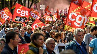 Des manifestations à Lille (Nord)contre la réforme du Code du Travail, le 12 septembre 2017. (PHILIPPE HUGUEN / AFP)