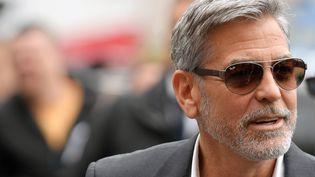 L'acteur et réalisateur américain George Clooney à Rome, le 13 mai 2019. (TIZIANA FABI / AFP)