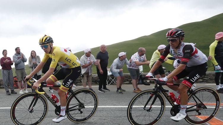 Rafal Majka (ici le 14 juillet 2021 sur le Tour de France) a remporté une belle étape de montagne sur la Vuelta. (GUILLAUME HORCAJUELO / EPA / MAXPPP)