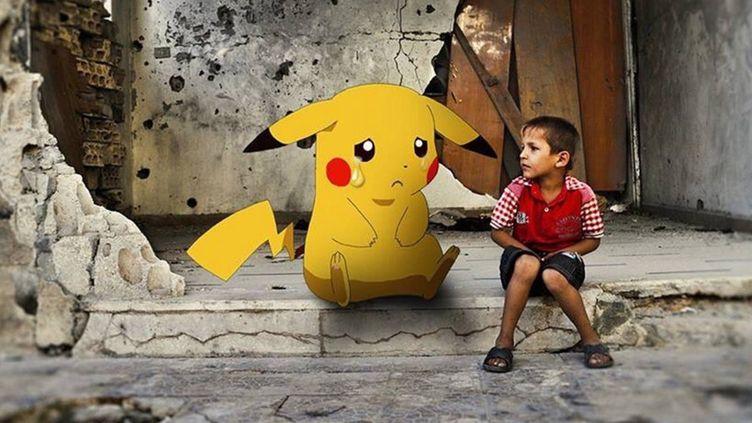 Pokémon en Syrie image utilisée par RFS (opposition syrienne) sur Twitter
