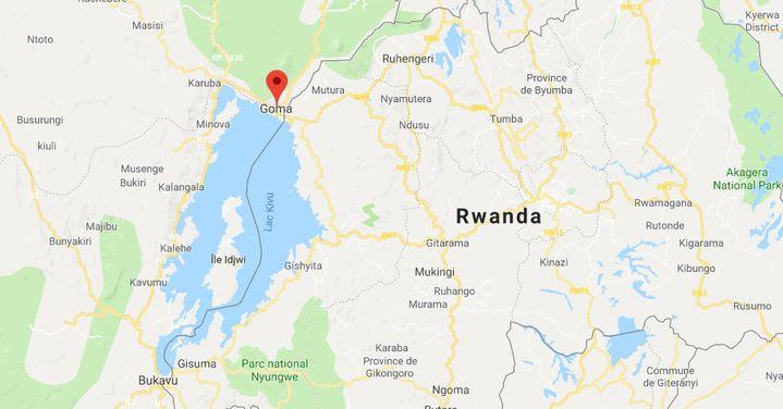 Capture d'écran de la ville de Goma, en République démocratique du Congo. (GOOGLE MAPS)