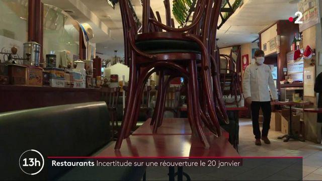Réouverture des restaurants : incertitudes autour du 20 janvier