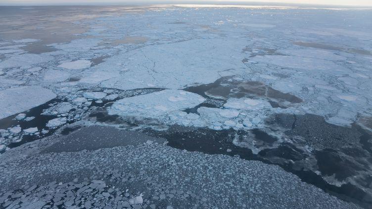 La banquise, le 7 mars 2014, àKulusuk, au Groenland. (MINT IMAGES / MINT IMAGES / AFP)