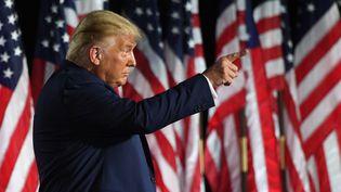 Le président Donald Trump, à la convention des républicains, à Washington (Etats-Unis), le 27 août 2020. (SAUL LOEB / AFP)