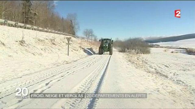 Froid, neige et verglas : 20 départements en alerte