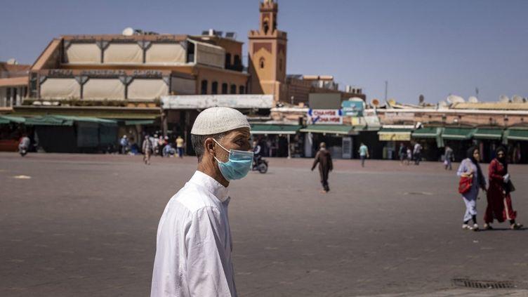 Place Jemaa el-Fnaà Marrakech, le 6 mai 2021. (FADEL SENNA / AFP)