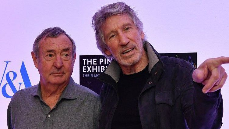 Nick Masson et Rogers Waters, co-fondateurs de Pink Floyd (2017)  (BEN STANSALL / AFP)
