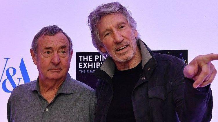 Nick Masson et Rogers Waters, co-fondateurs de Pink Floyd (2017)  (BEN STANSALL / AFP)