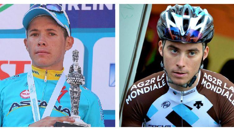 Miguel Lopez et Pierre Latour, deux néo-pros en pleine réussite actuellement, sur le Tour de Burgos.
