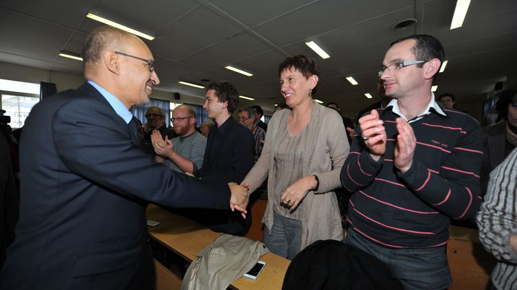 Le premier secrétaire du Parti Socialiste, Harlem Desir, à Limoges le 5 avril. (PASCAL LACHENAUD / AFP)