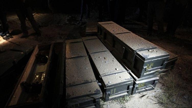 Image prise par les autorités libyennes après les frappes de l'Otan à Tripoli, le 23 avril. (AFP - Joseph Eid)