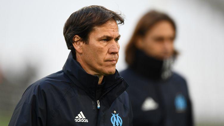 L'entraîneur de l'OM Rudi Garcia (BORIS HORVAT / AFP)