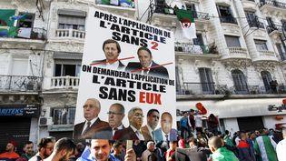 Lrs d'une manifestation à Alger, le 29 mars 2019. (- / AFP)