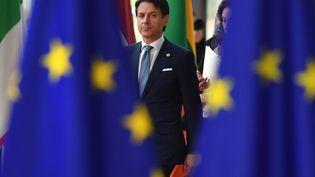 Le président du Conseil italien Giuseppe Conte arrive au sommet européen à Bruxelles (Belgique), le 28 juin 2018. (BEN STANSALL / AFP)