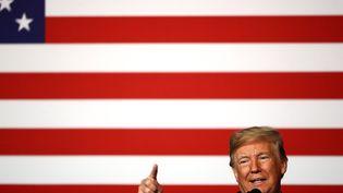 Le président américain Donald Trump lors d'un discours à Kansas City, dans l'Etat du Missouri (Etats-Unis), le 7 décembre 2018. (JAMIE SQUIRE / AFP)